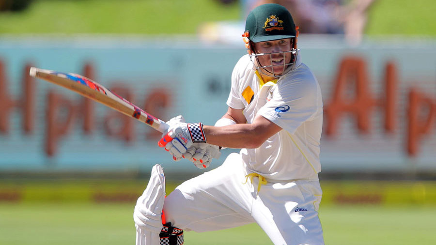 David Warner cuts for four