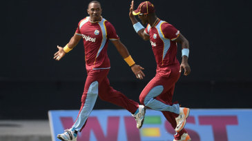 Dwayne Bravo picked up two in two balls