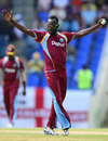 Nikita Miller claimed a caught and bowled, West Indies v England, 3rd ODI, Antigua, March 5, 2014