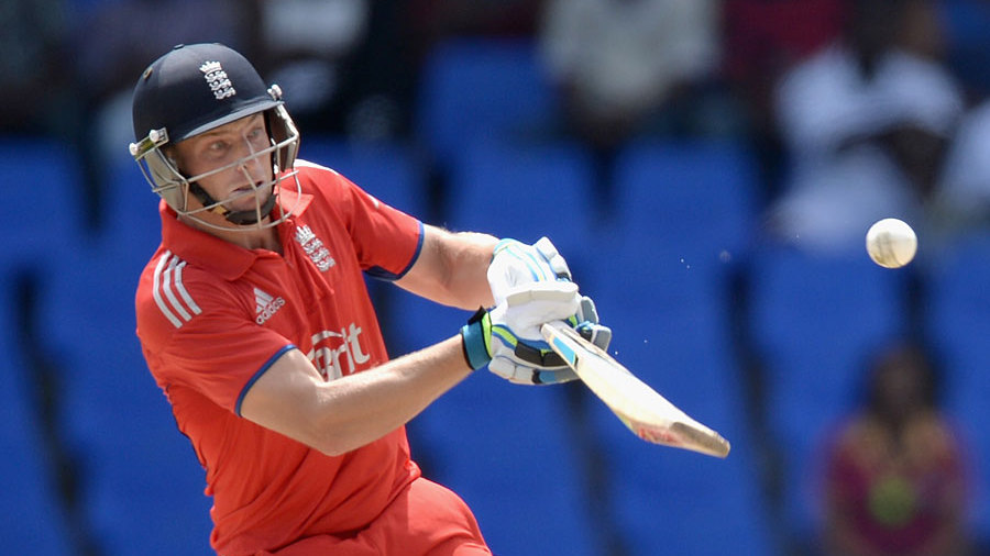 Jos Buttler plays the scoop