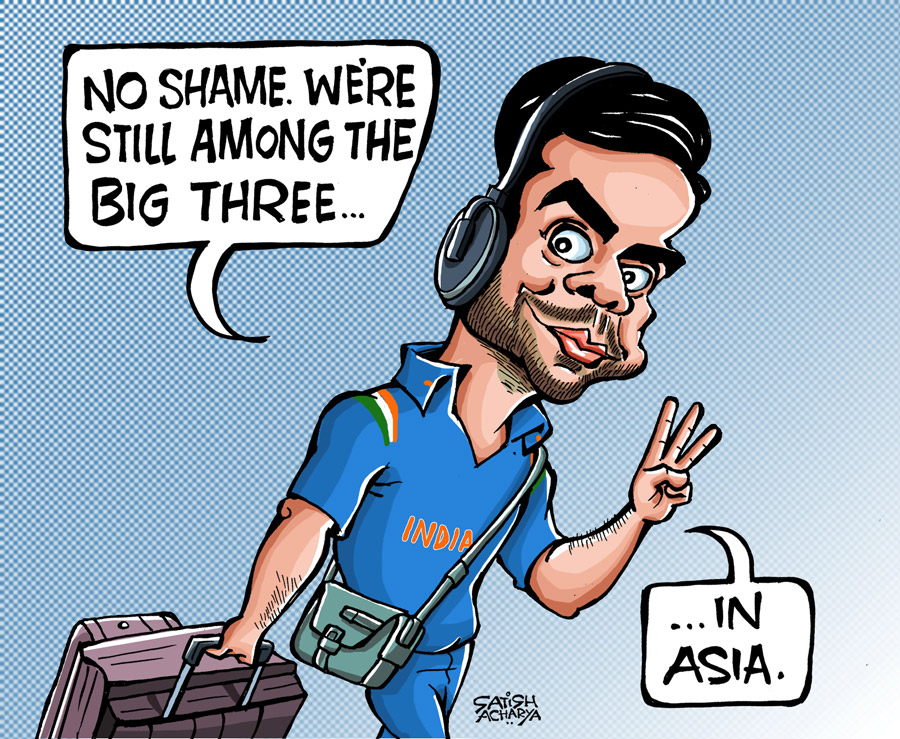 Hussey Comment On Indian Cricket Team Funny: Blogs: Cartoon: No Shame