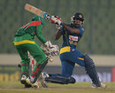 Chaturanga de Silva swings towards fine leg, Bangladesh v Sri Lanka, Asia Cup, Mirpur, March 6, 2014
