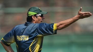 Misbah-ul-Haq during a practice session