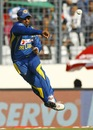Chaturanga de Silva powers a throw, Pakistan v Sri Lanka, Asia Cup final, Mirpur, March 8, 2014