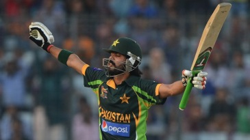 A blissful Fawad Alam after his maiden ODI hundred