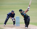 Dane Cleaver targets the leg side, Auckland v Central Districts, The Ford Trophy, Auckland, March 12, 2014