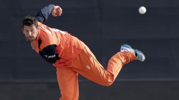 Pieter Seelaar took 1 for 13 against Afghanistan