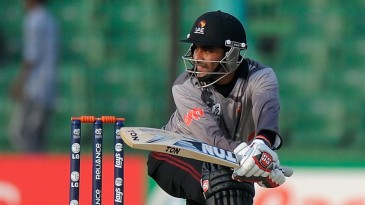 Khurram Khan top scored for UAE with 44
