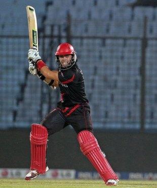 Mark Chapman scored a match-winning 53, Hong Kong v Zimbabwe, World T20 warm-up, Chittagong, March 12, 2014