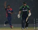 Jitendra Mukhiya took 3 for 24, Ireland v Nepal, World T20 warm-up, Fatullah, March 12, 2014