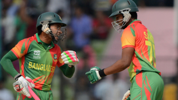 Mushfiqur Rahim and Shakib Al Hasan added 116 runs in the last 10 overs