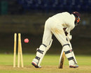 Tonito Willett is bowled, Trinidad & Tobago v Leeward Islands, Trinidad, 2nd day, March 15, 2014