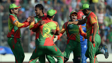 Shakib Al Hasan picked up three wickets