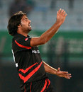 Haseeb Amjad finished with 3 for 25 for Hong Kong, Hong Kong v Nepal, World T20, Qualifying Group A, Chittagong, March 16, 2014