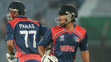 Paras Khadka and Gyanendra Malla added 80 for the third wicket