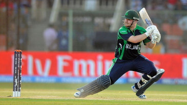 Paul Stirling slashes the ball behind square