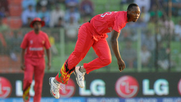 Tendai Chatara bowled economically and took the crucial wicket of Paul Stirling