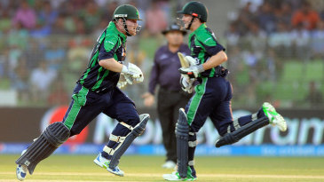 Paul Stirling and William Porterfield put on 80 for Ireland