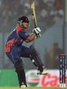 Sagar Pun pulls one down to the leg side, Bangladesh v Nepal, World T20, Group A, Chittagong, March 18, 2014