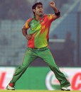 Farhad Reza picked up the first wicket for Bangladesh, Bangladesh v Nepal, World T20, Group A, Chittagong, March 18, 2014