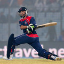 Sharad Vesawkar sweeps one powerfully, Bangladesh v Nepal, World T20, Group A, Chittagong, March 18, 2014
