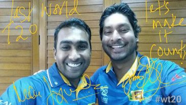 Mahela Jayawardene announced he would join Kumar Sangakkara in Twenty20 retirement via the ICC's Twitter Mirror campaign