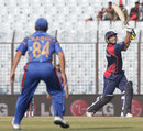 Subash Khakurel plays a lofted shot, Afghanistan v Nepal, World Twenty20, Group A, Chittagong, March 20, 2014