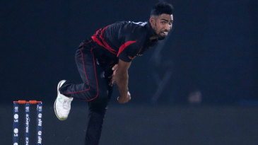Irfan Ahmed hurls in a delivery