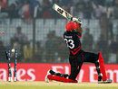 Tanwir Afzal was bowled for a duck, Bangladesh v Hong Kong, World T20, Group A, Chittagong, March 20, 2014