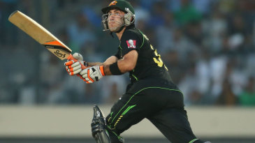Glenn Maxwell smacks a shot through the leg side