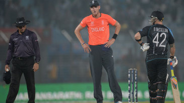 Stuart Broad was unhappy with the umpires with lightning in the area