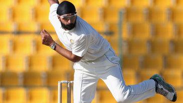 Monty Panesar took five wickets in the season opener in Abu Dhabi