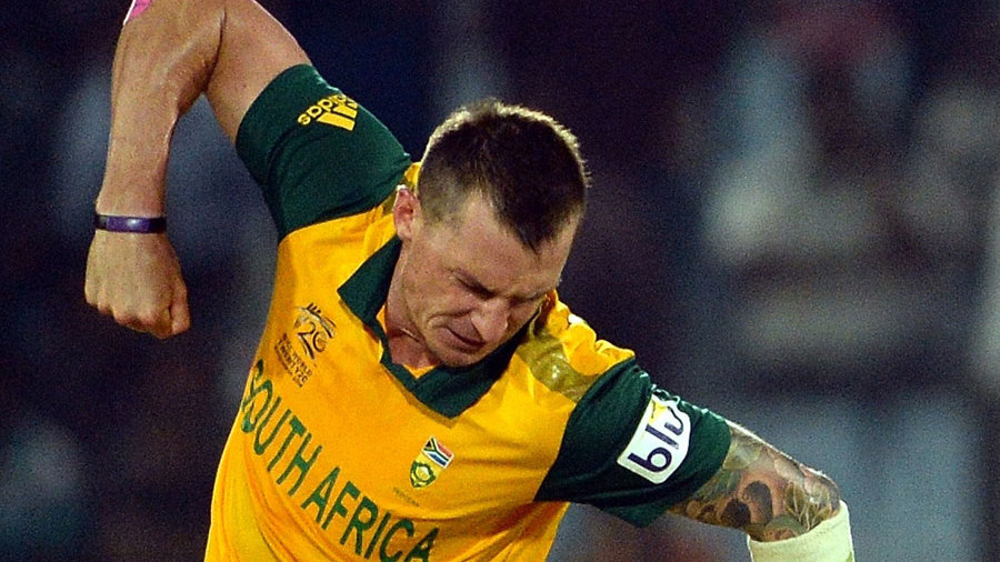 Dale Steyn is elated after dismissing Kane Williamson
