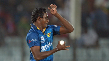 Ajantha Mendis in his delivery stride