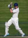 Luis Reece drives square during his 85, Durham v MCC, Champion County Match, Abu Dhabi, March 24, 2014