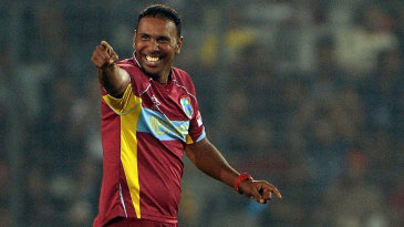 Samuel Badree's 4 for 15 were the best by a West Indies bowler in World T20