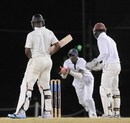 Kyle Corbin readies for a chance at first slip, Combined Campuses and Colleges v Guyana, Regional Four Day Competition, Barbados, March 24, 2014, Day 4