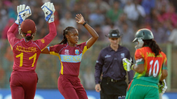 Shaquana Quintyne picked up three wickets for five runs