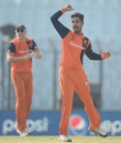 Ahsan Malik  celebrates Hashim Amla's wicket, Netherlands v South Africa, World T20, Group 1, Chittagong, March 27, 2014