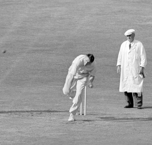 Bob Appleyard took nine wickets in the match, Middlesex v Yorkshire, County Championship, Lord's, 2nd day, June 17, 1957