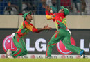 Anamul Haque and Sohag Gazi nearly collided while attempting a catch, Bangladesh v India, World T20, Group 2, Mirpur, March 28, 2014