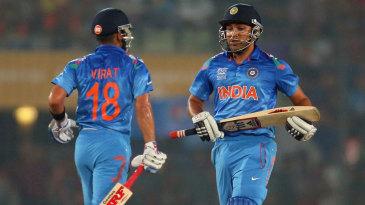 Virat Kohli and Rohit Sharma shared a 100-run second-wicket stand