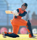 Stephan Myburgh sweeps one fine on the leg side, Netherlands v New Zealand, World T20, Group 1, Chittagong, March 29, 2014
