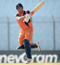 Michael Swart scored a useful 26 before being stumped off Nathan McCullum, Netherlands v New Zealand, World T20, Group 1, Chittagong, March 29, 2014