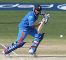 Ricky Bhui guides the ball to the off side, England v India, Under-19 World Cup, quarterfinal, Dubai, February 22, 2014