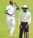 Tevin Robertson bowls, Trinidad & Tobago