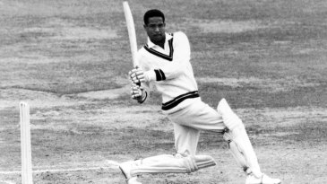 Garry Sobers pulls during his unbeaten 163 at Lord's