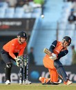 Stephan Myburgh sweeps strongly, England v Netherlands, World T20, Group 1, Chittagong, March 31, 2014