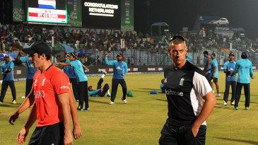 Ashley Giles slinks away from England's shambolic defeat
