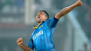 Rangana Herath roars in celebration